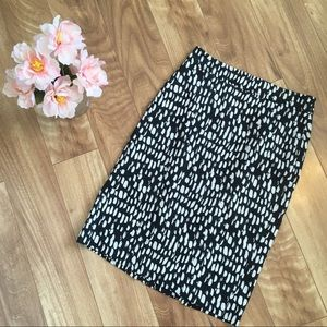 Ann Taylor Navy And White Pencil Skirt Size 0